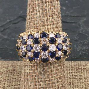 Ross Simons Sim Sapphire Dome Vermeil Ring 8 1/4